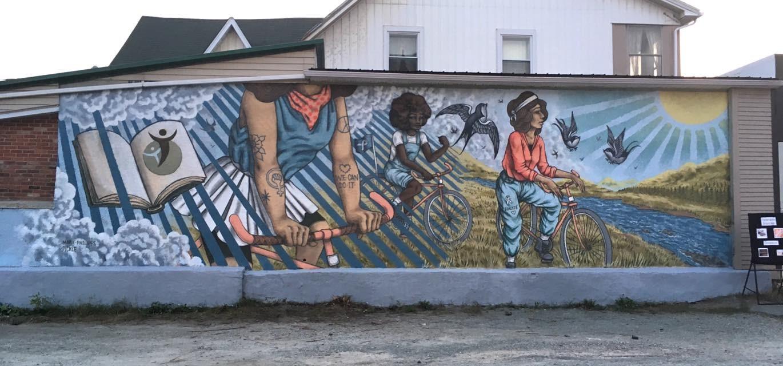 Murale par Sylvie Brunelle réelle