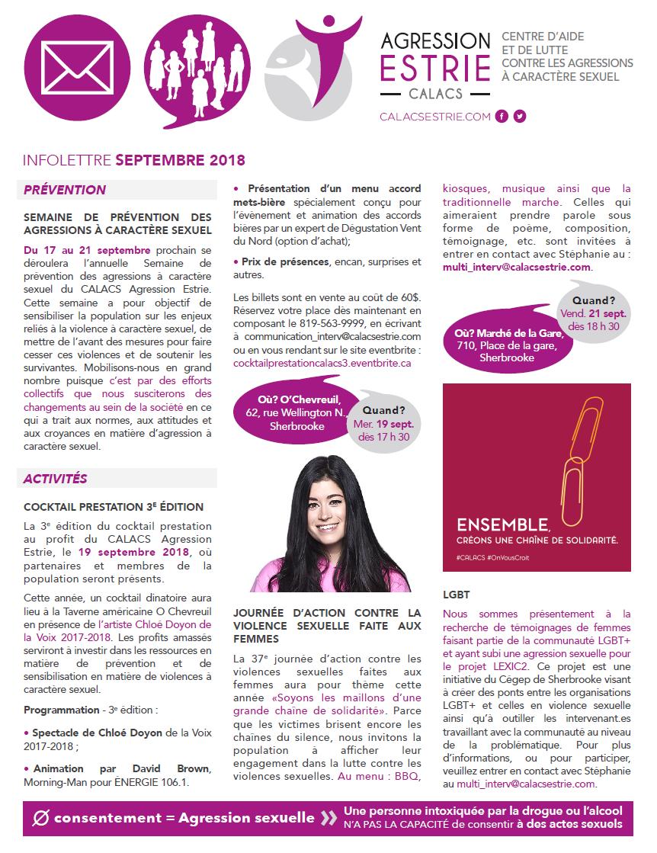 Infolettre sept. 2018 p. 1