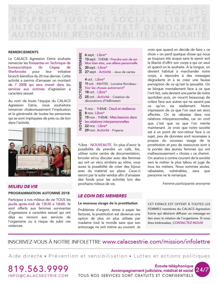 Infolettre sept. 2018 p. 2